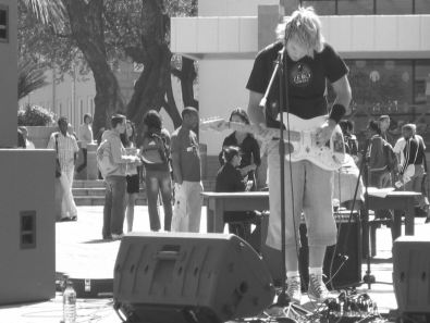 throwback to 2004 - rocking out on campus