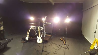 set up and ready to shoot