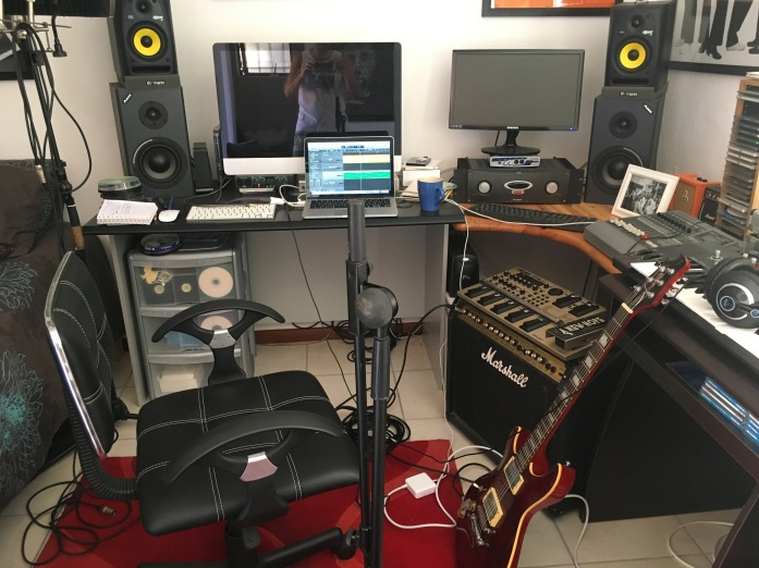 "busy recording new track "" the impossible"" - this one's heavy"